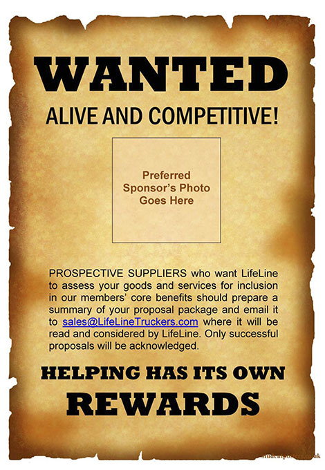 Wanted - Alive and Competitive!